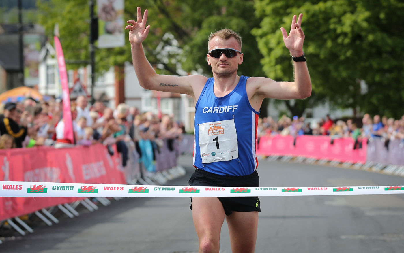 2019 Caerphilly 10k winner, Matt Clowes
